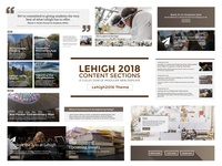 Lehigh 2018 Content Sections