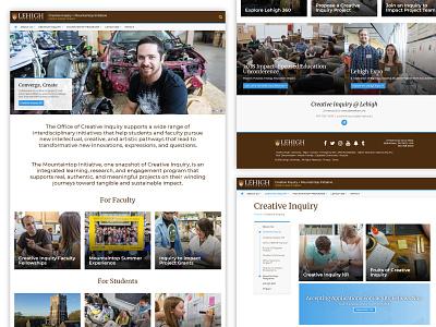 Creative Inquiry - Lehigh2018 Theme components layout inquiry creative theme graphic development design web