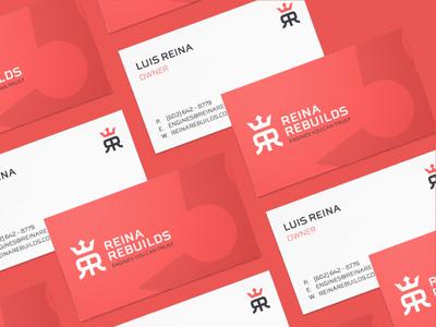 Reina Rebuild Business Cards
