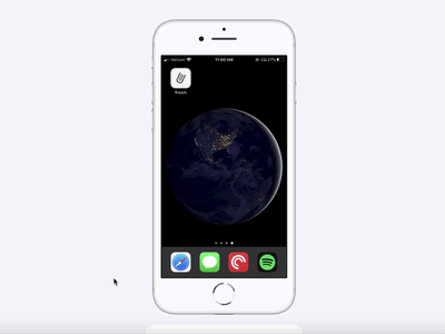 "iOS app ""Rreads"" prototype ui visual design ios prototype animation"