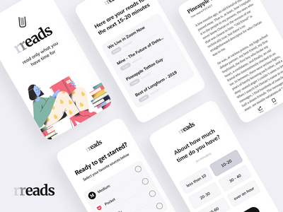 """Rreads"" iOS app concept"