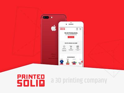 Printed Solid - WIP responsive web design ui