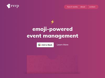 RSVP - Landing page V1 visual design ui design responsive design logo design branding