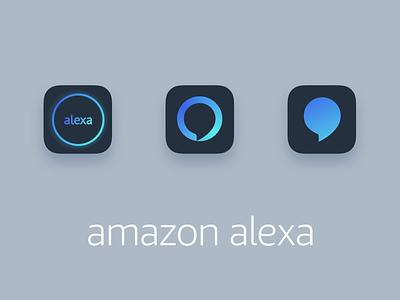 Amazon Alexa iOS icon visual design ios icon design alexa amazon app icon