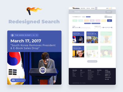 Flocabulary - Redesigned Search education cards visual design search ux ui