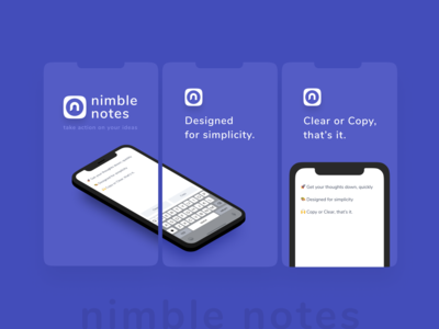 Nimble Notes iOS app
