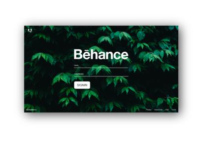 Behance Redesign - Login