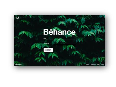 Behance Redesign - Login behance behance redesign interaction design interaction user interface ui dribbble