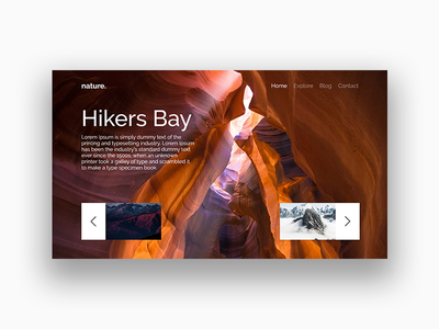 Nature web design user interface minimal abstract adobe xd nature