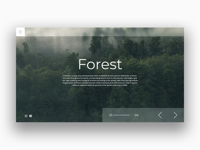 Forest forest landing page landing minimal user interface ui design ui nature