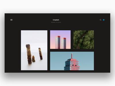 Unsplash Redesign - Black