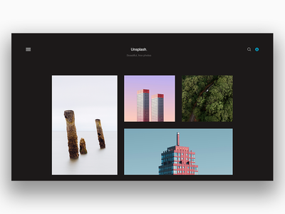 Unsplash Redesign - Black unsplash minimal black user interface ui