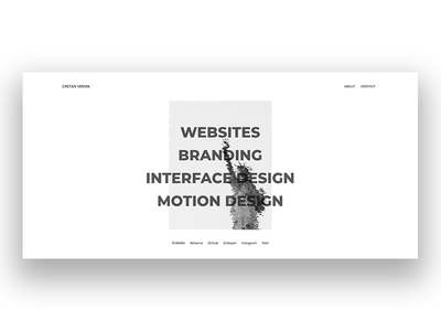 Portfolio v2.0 user interface design interaction design web design portfolio design portfolio