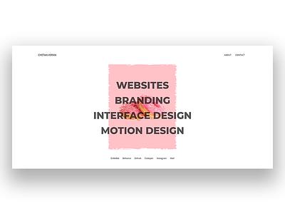 Portfolio v2.0 portfolio design user interface ui web design portoflio