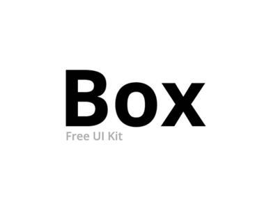 Box UI Kit - Freebie ✌ free kit freebie ui kit free ui kit free ui