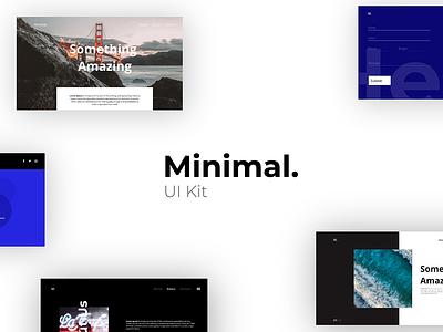 Minimal UI Kit - Adobe XD minimal xd kit minimal kit minimal app minimal ui kit xd ui kit adobe xd kit adobe xd minimal dailyui userinterface ui design web design ui