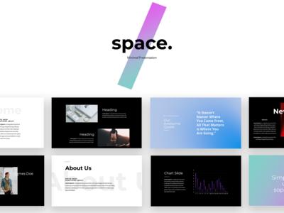 Space Minimal PowerPoint Presentation