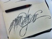 Semi-calligraphic artwork