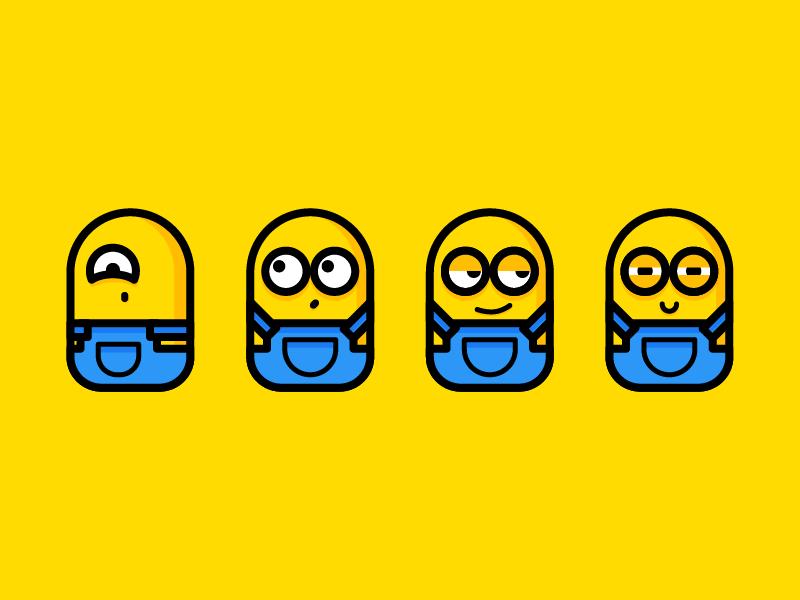 Minions emojis illustraion