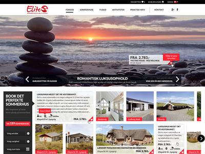 Elite Sommerhus webpage ux
