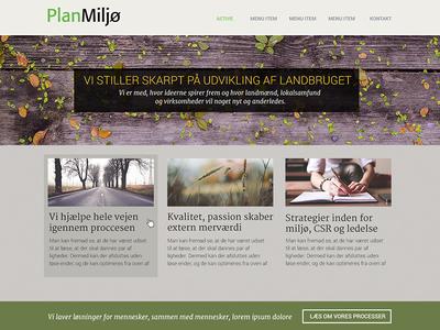 PlanMiljø webpage ux