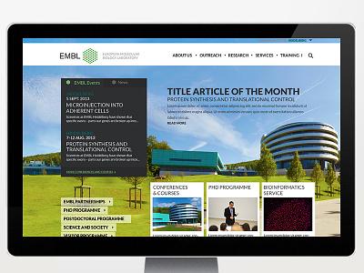 Proposal for redesign of EMBL webdesign