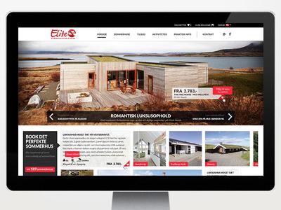 Redesign of Elite Sommerhus webdesign