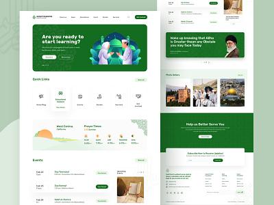 Hejrat Foundation (Masjid Al-Nabi) Home page mosque islam muslims homepage landing web ux design illustration ui zihad