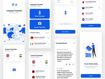 Language Translate app translate language minimal app clean ux design ui zihad