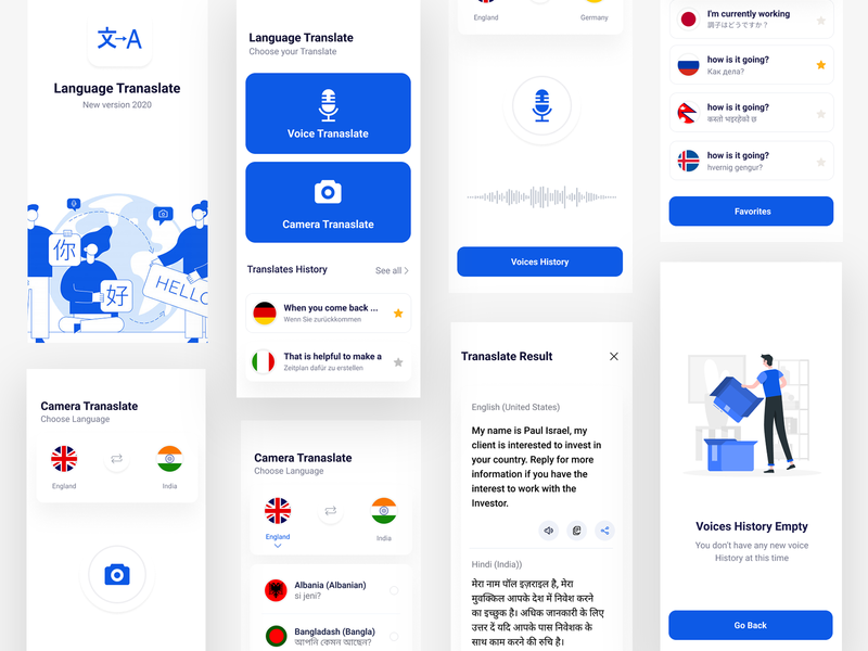 Language Translate app translate language minimal app clean ux design ui zihad
