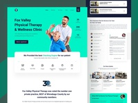 Fox Valley  Physical Therapy  & Wellness Clinic homepage website clean web ux design ui zihad
