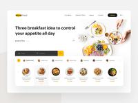 Restaurant card restaurant homepage website clean web ux design ui zihad