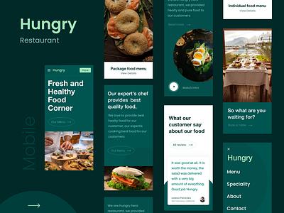 Hungry - Mobile special menu restaurant food mobile app clean ux design ui zihad