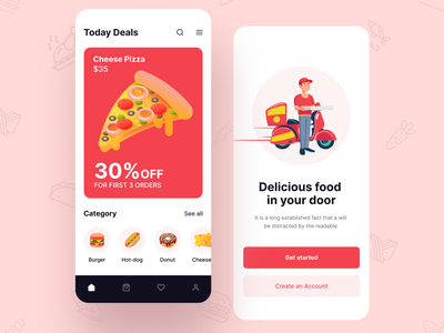 Food app discount offer shop order food restaurant app clean ux design ui zihad