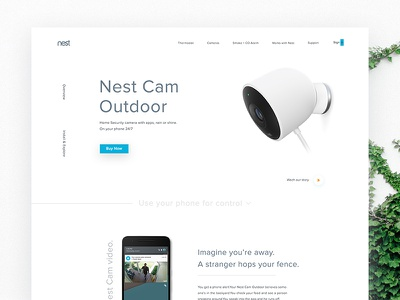 Nest Outdoor Camera Landing Page zihad website web uxdesign uidesign ui product page outdoor nest landing homepage cam