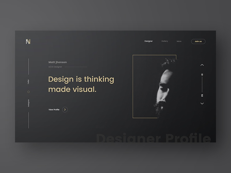 Designer Profile experiment zihad website design webdesign typography template simple profile portfolio minimal layout clean bootstrap