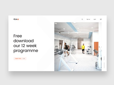 Max website exploration zihad branding sports seagulls pattern page one landing gym fitness direction crossfit athlete art
