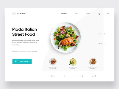Restaurant food and drink clean web ux design ui zihad template sushi restaurant page menu landing japan home food faish cuisine cart