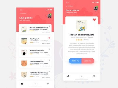 Poetry App Concept zihad x room profile poetry poetree poem log iphone ios dashboard cards app