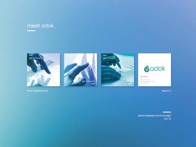 Adok Business Card Proposal proposal client cards business