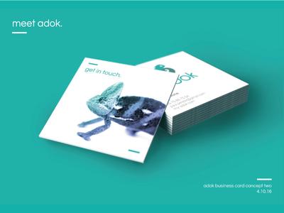 Adok Business Card Proposal 02 proposal client cards business