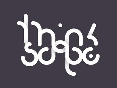 Thinkscape Logo intertwine overlap grid logo gradient