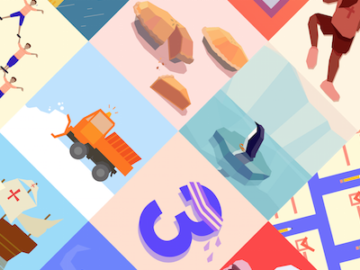 New portfolio project coming soon! pie food numbers animals expii illustration startup