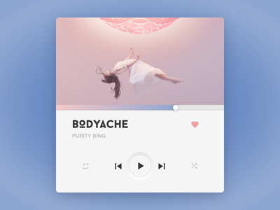 Music Player UI rose quartz radio song music button mobile ux ui serenity pantone player