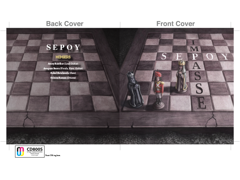 SEPOY DEBUT ALBUM COVER LAYOUT AND CD PACKAGING DESIGN by Mystie ...