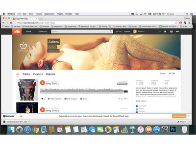Zaritza logo & brand design: alt Soundcloud design mockup