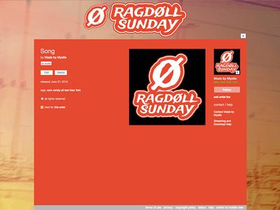 RAGDOLL SUNDAY BRAND IDENTITY & LOGO DESIGN: Bandcamp assets