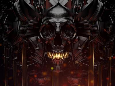 Gate concept art dark skull octane blender
