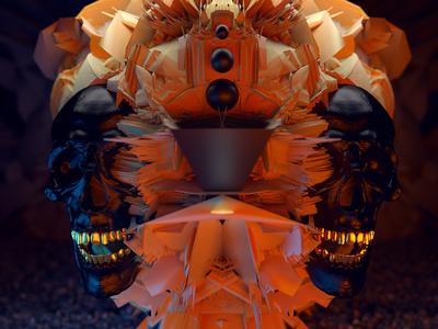 GATE.k2 render octane skull art concept blender 3d