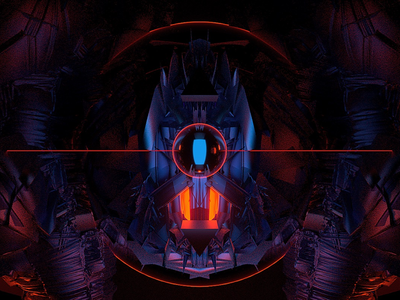 The eye concept art blender b3d concept octane render